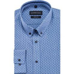 Koszula SIMONE KDNR000404. Niebieskie koszule męskie Giacomo Conti, z materiału, button down, z długim rękawem. Za 149.00 zł.