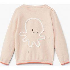 Mango Kids - Sweter dziecięcy Pulpi 62-80 cm. Swetry dla dziewczynek Mango Kids, z bawełny, z okrągłym kołnierzem. Za 69.90 zł.