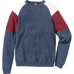 Sweter Regular Fit bonprix niebieski indygo - czerwony. Swetry przez głowę męskie marki Giacomo Conti. Za 37.99 zł.