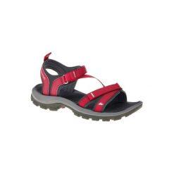 Sandały turystyczne Arpenaz 100 damskie. Czerwone sandały damskie QUECHUA, z gumy. Za 89.99 zł.