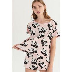 Dwuczęściowa piżama w pandy - Różowy. Czerwone piżamy damskie Sinsay. Za 39.99 zł.