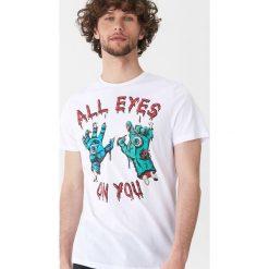 T-shirt z halloweenowym motywem - Biały. Białe t-shirty męskie House. Za 39.99 zł.