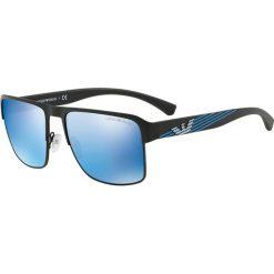 Emporio Armani - Okulary. Brązowe okulary przeciwsłoneczne męskie Emporio Armani, z materiału. Za 629.90 zł.