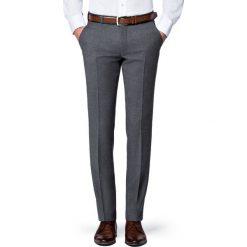 Spodnie Szare Flanelowe Diego. Szare eleganckie spodnie męskie LANCERTO, na jesień, z wełny. Za 399.90 zł.
