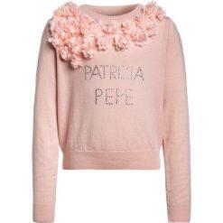 Patrizia Pepe Sweter old rose. Swetry dla dziewczynek Patrizia Pepe, z bawełny. Za 539.00 zł.