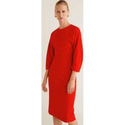 Mango - Sukienka Star. Czerwone sukienki damskie Mango, z elastanu, casualowe, z okrągłym kołnierzem. Za 229.90 zł.