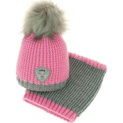 Czapka dziecięca z kominkiem CZ+k 047B. Różowe czapki dla dzieci Proman. Za 61.61 zł.
