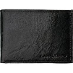Portfel Czarny. Czarne portfele męskie LANCERTO, ze skóry. W wyprzedaży za 149.90 zł.