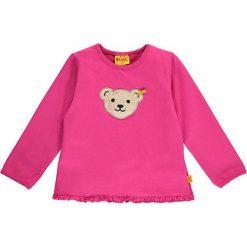 Bluza w kolorze różowym. Bluzy dla niemowląt Steiff, z aplikacjami. W wyprzedaży za 47.95 zł.