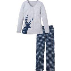 Piżama bonprix ciemnoniebieski z nadrukiem. Piżamy damskie marki MAKE ME BIO. Za 69.99 zł.