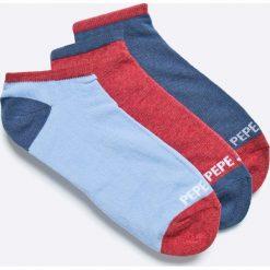 Pepe Jeans - Skarpety (3-pack). Szare skarpety męskie Pepe Jeans, z bawełny. W wyprzedaży za 39.90 zł.