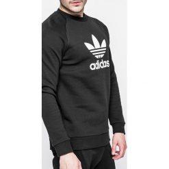 Adidas Originals - Bluza Trefoil Crew. Czarne bluzy męskie adidas Originals, z nadrukiem, z bawełny. Za 249.90 zł.