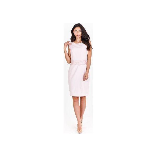 3e6ffd9f31 Ołówkowa sukienka z koronkowymi wstawkami - Sukienki damskie marki ...