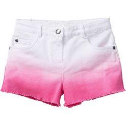 Krótkie spodenki twillowe bonprix biało-różowy flaming. Spodenki dla dziewczynek bonprix. Za 69.99 zł.