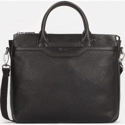 Czarna torba męska. Czarne torby na laptopa męskie Kazar, w paski, ze skóry. Za 749.00 zł.