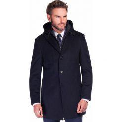 Płaszcz EUSEBIO PSGS000032. Czarne płaszcze męskie Giacomo Conti, z kaszmiru, klasyczne. Za 999.00 zł.