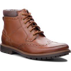 Kozaki CLARKS - Curington Rise 261368547  Tan Leather. Brązowe kozaki męskie Clarks, z materiału. Za 399.00 zł.