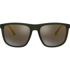 Emporio Armani - Okulary EA4124.57254T.57. Brązowe okulary przeciwsłoneczne męskie Emporio Armani, z materiału. Za 599.90 zł.