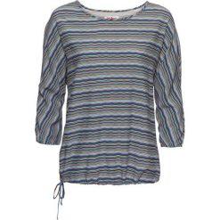 Tunika drukowana, rękawy 3/4 bonprix niebieski z nadrukiem. Niebieskie tuniki damskie bonprix, z nadrukiem. Za 54.99 zł.