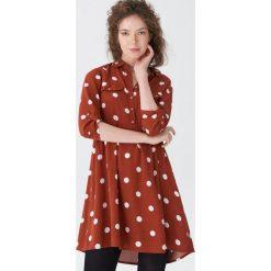 Sukienka w grochy - Bordowy. Czerwone sukienki damskie House, w grochy. Za 99.99 zł.