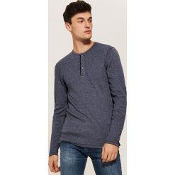Koszulka z długim rękawem basic - Granatowy. Niebieskie bluzki z długim rękawem męskie House. Za 59.99 zł.