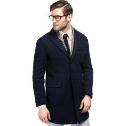 Płaszcz FRANCESCO 16-10KK. Niebieskie płaszcze męskie Giacomo Conti, z tkaniny, klasyczne. Za 799.00 zł.