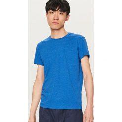 Melanżowy T-shirt BASIC - Niebieski. T-shirty męskie marki Giacomo Conti. W wyprzedaży za 14.99 zł.
