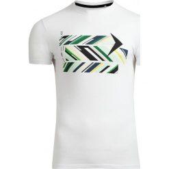T-shirt męski TSM612 - biały - Outhorn. Białe t-shirty męskie Outhorn, na lato, z bawełny. W wyprzedaży za 29.99 zł.