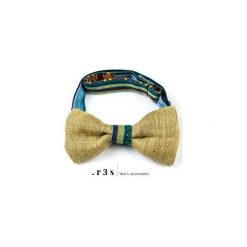 Mucha COLORS YELLOW. Żółte krawaty i muchy R3s men's accessories, ze lnu. Za 49.00 zł.