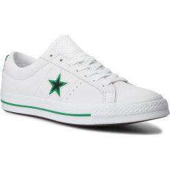 Tenisówki CONVERSE - One Star Ox 161589C White/Black/Converse Green. Białe trampki męskie Converse, z gumy. W wyprzedaży za 269.00 zł.