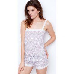 Etam - Top piżamowy. Szare piżamy damskie Etam, z bawełny. W wyprzedaży za 34.90 zł.