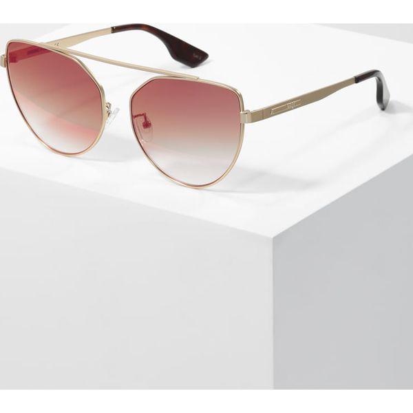 81eb70db50216 McQ Alexander McQueen Okulary przeciwsłoneczne gold pink - Okulary ...