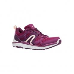 Buty do szybkiego marszu HW 500 damskie. Fioletowe obuwie sportowe damskie NEWFEEL, z poliesteru. Za 149.99 zł.