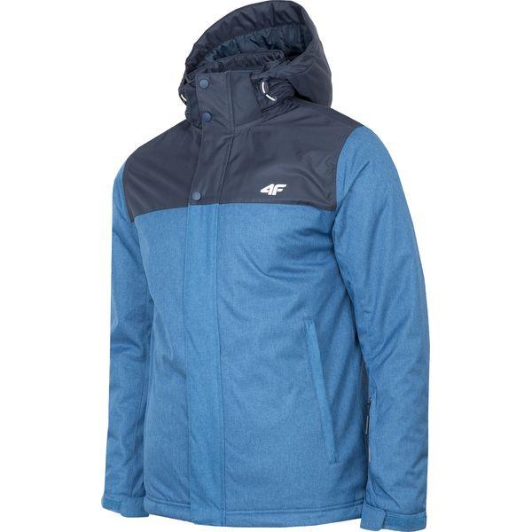 4ad0d41e2 Kurtka narciarska męska KUMN351R - niebieski melanż - Kurtki męskie ...
