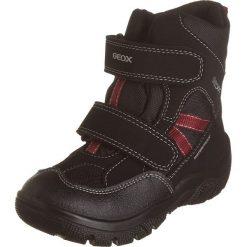 """Botki zimowe """"Clady"""" w kolorze czerwono-czarnym. Buty zimowe chłopięce marki Geox. W wyprzedaży za 185.95 zł."""