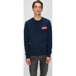 Levi's - Bluza. Brązowe bluzy męskie Levi's, z aplikacjami, z bawełny. Za 239.90 zł.
