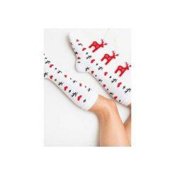 Ciepłe Skarpetki Renifery MAD Socks 36-40. Szare skarpety damskie Mad socks, z bawełny. Za 45.00 zł.