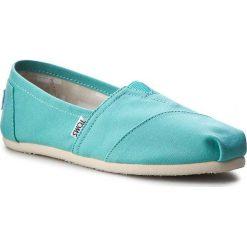 Półbuty TOMS - Classic 10009732 Turquoise. Niebieskie półbuty damskie Toms, z materiału. W wyprzedaży za 179.00 zł.