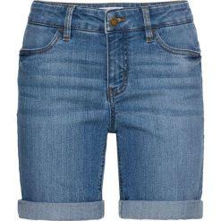 Wygodne szorty dżinsowe ze stretchem bonprix niebieski. Szorty damskie marki KIPSTA. Za 59.99 zł.