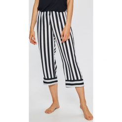 Dkny - Spodnie piżamowe. Szare piżamy damskie DKNY, z materiału. W wyprzedaży za 179.90 zł.