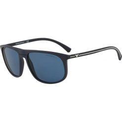 Emporio Armani - Okulary. Brązowe okulary przeciwsłoneczne męskie Emporio Armani, z materiału. Za 599.90 zł.