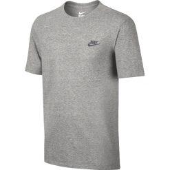 Nike Club Embroidery Futura T-Shirt 827021-063. Szare t-shirty męskie Nike, z bawełny. W wyprzedaży za 69.99 zł.
