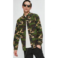 Produkt by Jack & Jones - Koszula. Szare koszule męskie PRODUKT by Jack & Jones, z bawełny, z włoskim kołnierzykiem, z długim rękawem. W wyprzedaży za 99.90 zł.