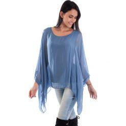 Koszulka w kolorze niebieskim. T-shirty damskie 100% Soie, klasyczne, z okrągłym kołnierzem, z długim rękawem. W wyprzedaży za 130.95 zł.