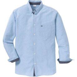 Koszula z długim rękawem i haftem Regular Fit bonprix niebieski. Koszule męskie marki Giacomo Conti. Za 109.99 zł.