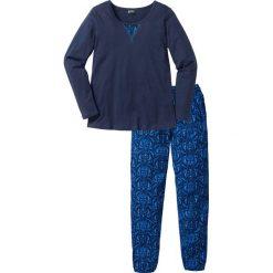 Piżama bonprix ciemnoniebieski z nadrukiem. Piżamy damskie marki bonprix. Za 49.99 zł.