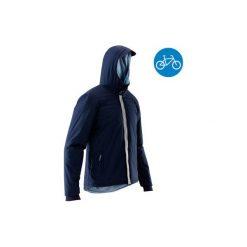 Ciepła kurtka p/deszczowa 900. Niebieskie kurtki męskie B'TWIN. Za 199.99 zł.
