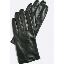 Vero Moda - Rękawiczki skórzane. Czerwone rękawiczki damskie Vero Moda, z materiału. W wyprzedaży za 119.90 zł.
