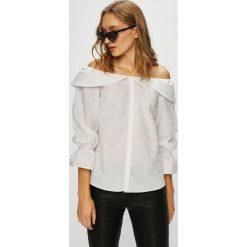 Trendyol - Koszula. Szare koszule damskie Trendyol, z bawełny, casualowe, z długim rękawem. W wyprzedaży za 69.90 zł.