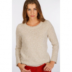 """Sweter """"Boupull"""" w kolorze szarobrązowym. Brązowe swetry damskie Scottage, z wełny, z okrągłym kołnierzem. W wyprzedaży za 81.95 zł."""